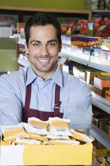 Pacific Islander clerk in health food store