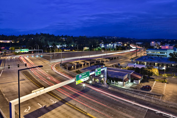 Freeway in Bellevue, Washington
