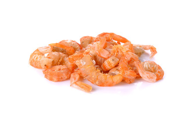 dried shrimp isolated on a white background