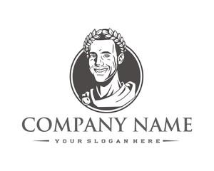 roman king logo image vector