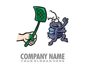 pest bug logo image vector