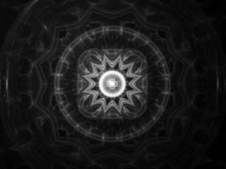 Mandala fractal intensity map