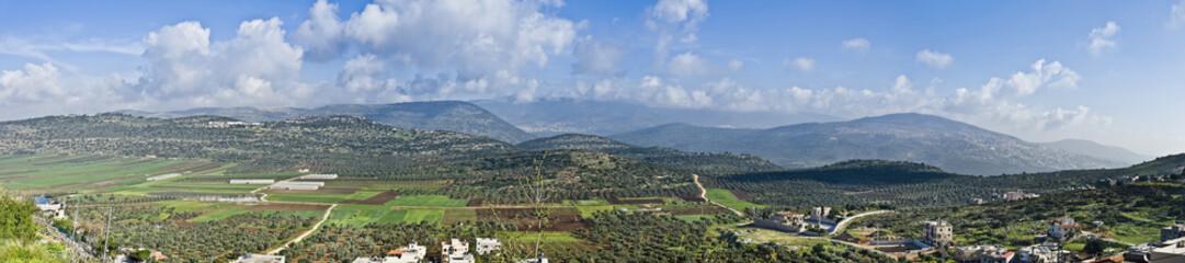 Israeli Valley Panorama