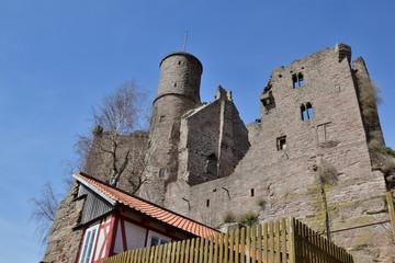 Die Burg Hanstein im Eichsfeld Thüringen