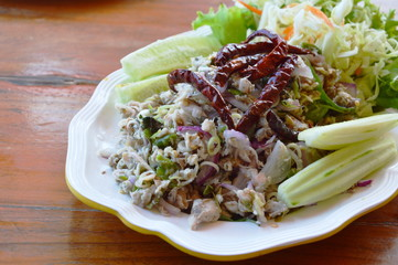 mackerel spicy  salad