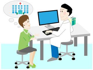 セカンドオピニオン、病院、相談、医師、患者、