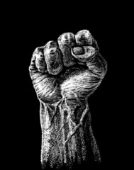 Hard clenched fist