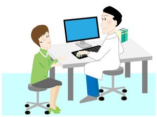 病院、相談、医師、患者、治療