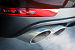 Close up of a car dual exhaust pipe - 82159682