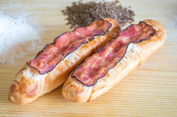 Bacon bread rolls