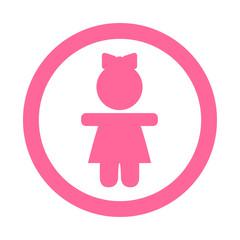 Icono redondo chica rosa