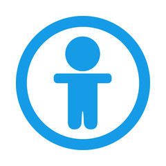 Icono redondo chico azul
