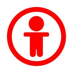 Icono redondo chico rojo