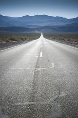 Open road, Death Valley, California, United States