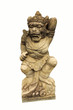 Leinwanddruck Bild - Sculpture of Monkey Guard