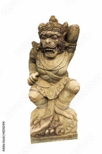 Leinwanddruck Bild Sculpture of Monkey Guard