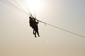 Parachute bottom view