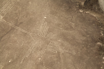 Lines and Geoglyphs of Nazca, Peru - Hummingbird