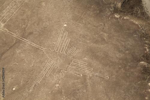 Zdjęcia na płótnie, fototapety, obrazy : Lines and Geoglyphs of Nazca, Peru - Hummingbird
