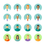 Flat avatars of doctors and patients for medical forum