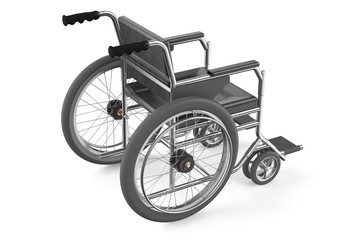 black empty wheelchair