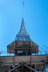 A harbour crane view overhead