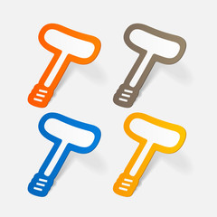paper sticker: classic corkscrew