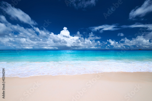 Tuinposter Water Beautiful Anse Intendance beach at Seychelles