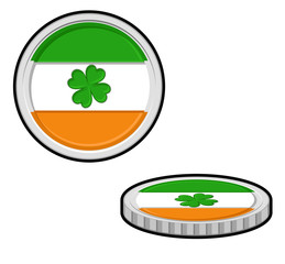 Patrick's Day Coins Vector