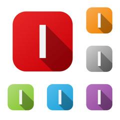 ALPHABET ICONS (letter I graphic design lettering)