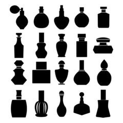 Vector set of perfume bottles - Illustration