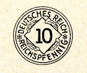 10 reichspfennig 1924-1936