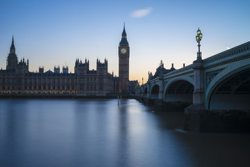Westminster and river blue