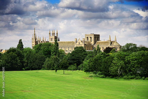 English landscape with catherdral and park - 82170630