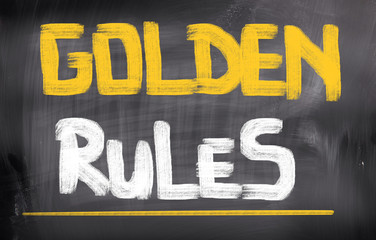Golden Rules Concept