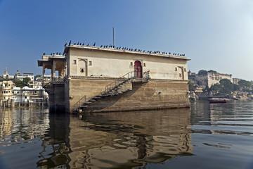 Building on Lake Pichola, India