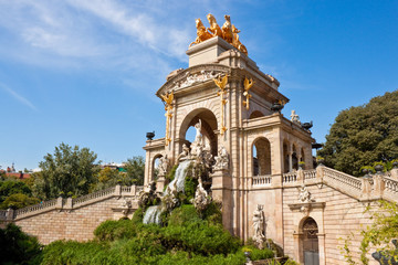 Fountain at Parc de la Ciutadella, Barcelona.
