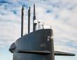 Постер, плакат: Top of nuclear submarine Naval fleet