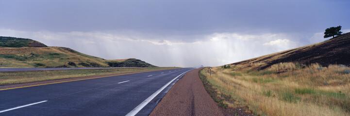 Interstate Highway near Badlands National Park