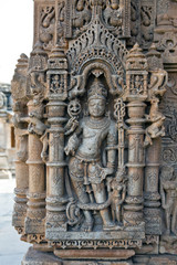 Carving at Sas-Bahu Temple at Eklingji