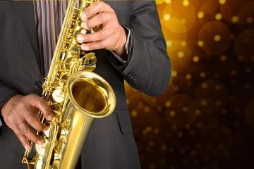 Jazz. Saxophone Playing