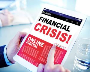 Digital Online News Headline Financial Crisis Concept