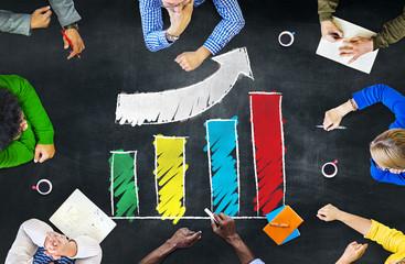 Growth Success Improvement Development Bar Graph Concept