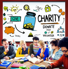 Charity Donate Help Give Saving Sharing Support Concept