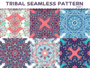 Tribal ethnic seamless pattern abstract background ornament