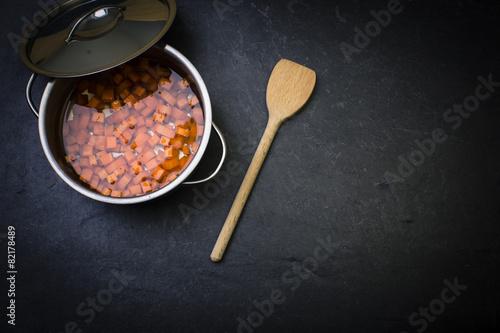 Karotten kochen stock photo and royalty free images on pic 82178489 - Karotten kochen ...