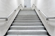 canvas print picture - stairs in building corridor