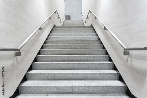 Public place stairs in building corridor