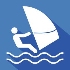 Logo planche à voile.