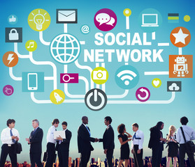 Social Network Internet Online Society Connecting Social Media C